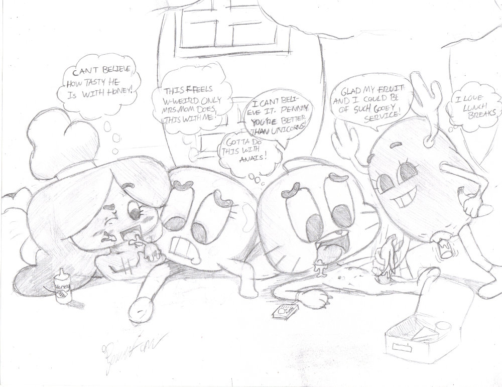 louie amazing world of gumball Shadow hearts from the new world shania