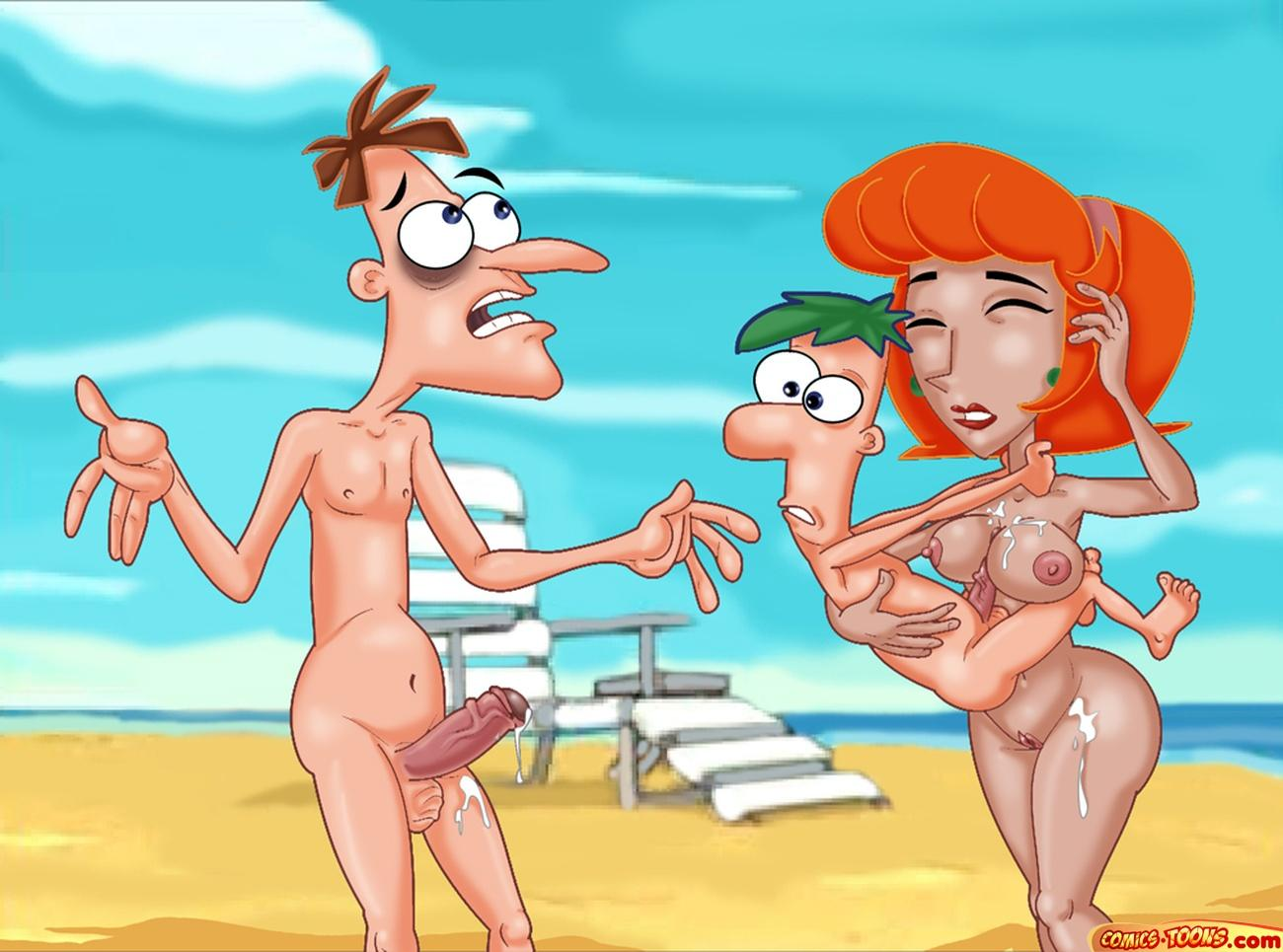 phineas y ferb comic porno Wii fit trainer and villager