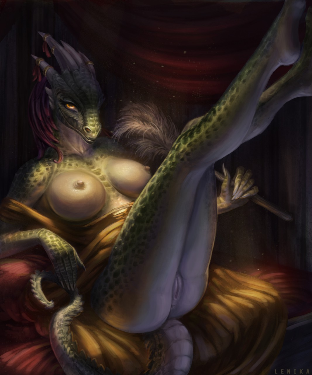 hentai the maid argonian lusty Nana darling in the franxx